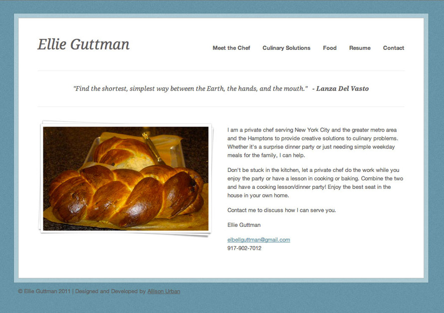 A great web design by Allison Urban, Atlanta, GA: