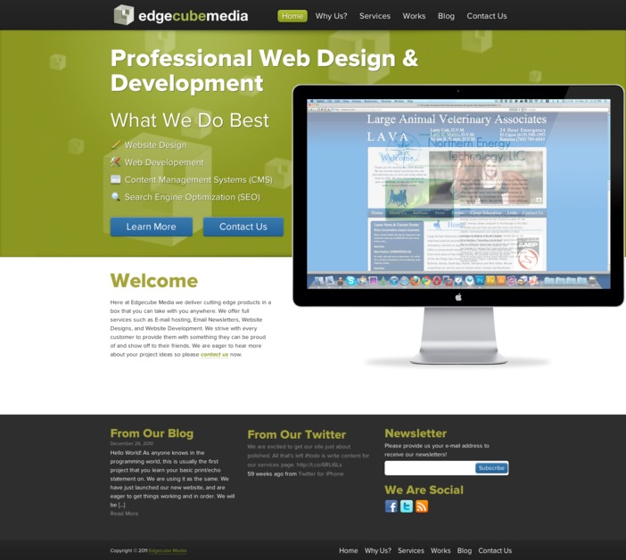 A great web design by Edgecube Media, San Diego, CA: