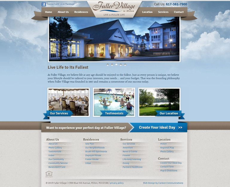 A great web design by Carlson Communications, Boston, MA: