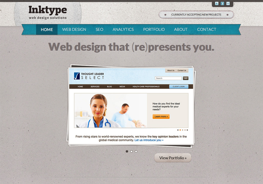 A great web design by Inktype, Chapel Hill, NC: