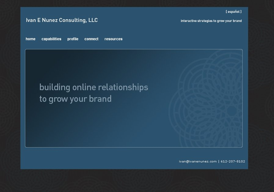 A great web design by Ivan E Nunez Consulting, Minneapolis, MN: