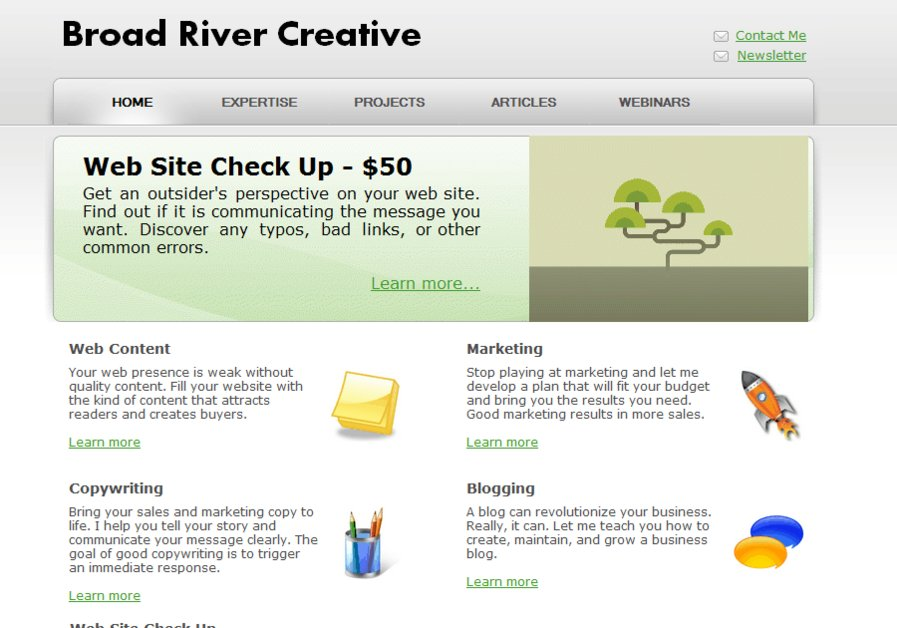A great web design by Broad River Creative, New York, NY: