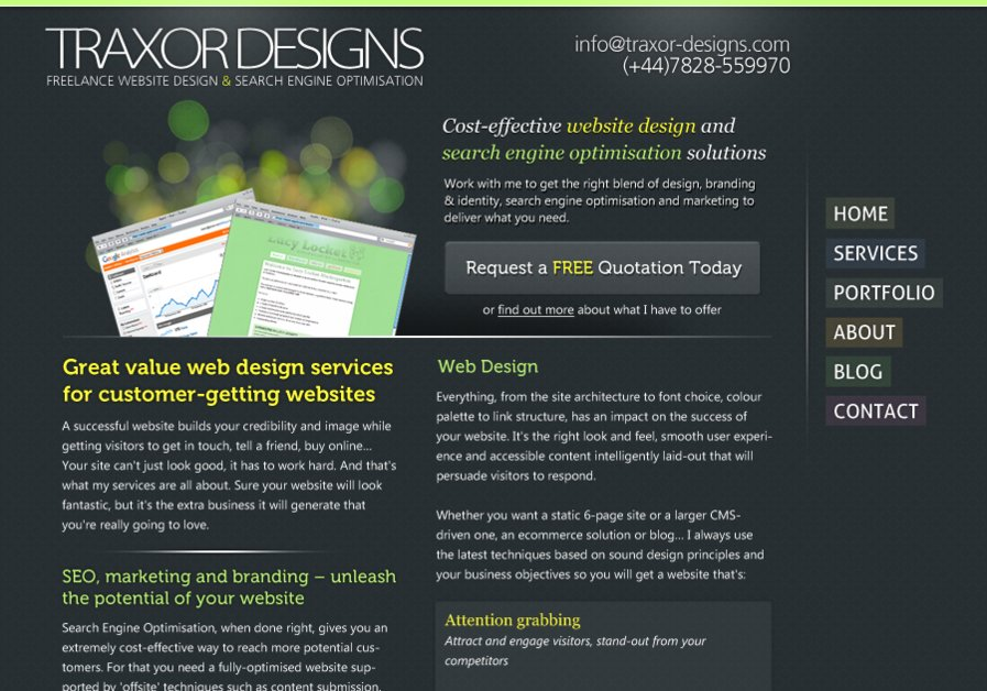 A great web design by Traxor Designs, Birmingham, United Kingdom: