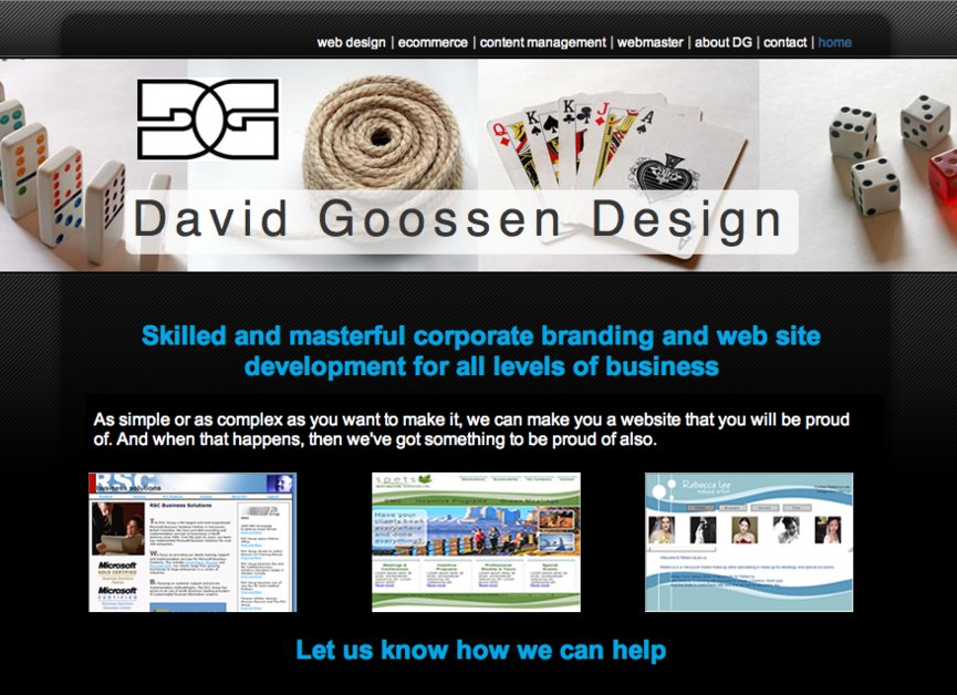 A great web design by Dave Goossen Design, Vancouver, Canada: