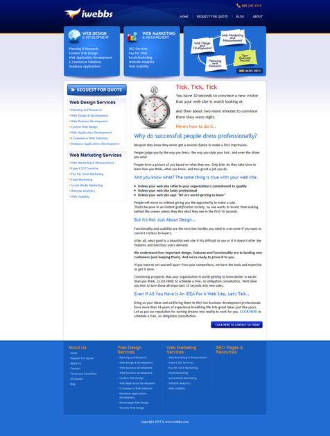 A great web design by IWEBBS Business Solutions, Toronto, Canada: