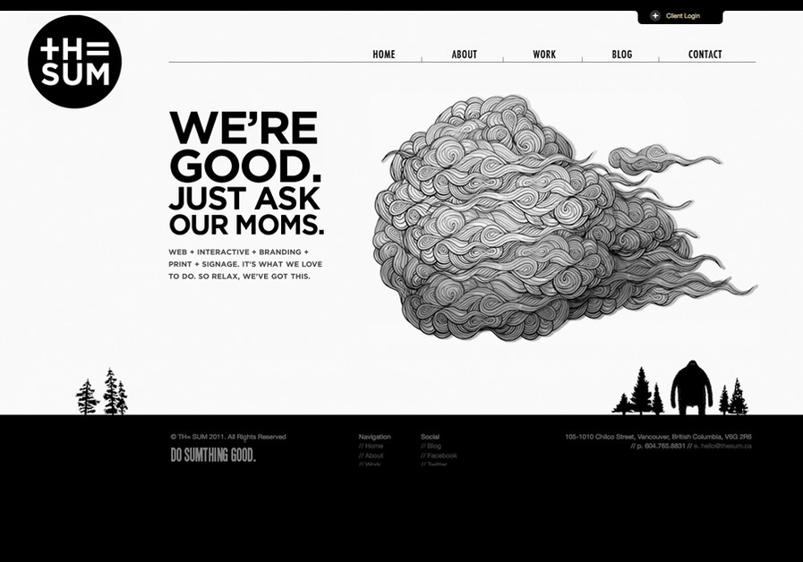 A great web design by TH= SUM, Vancouver, Canada: