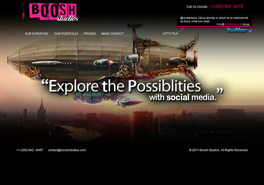 A great web design by Boosh Studios, Fort Lauderdale, FL: