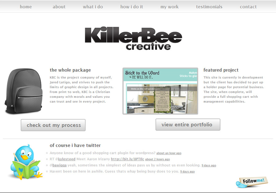 A great web design by Killer Bee Creative, Dallas, TX: