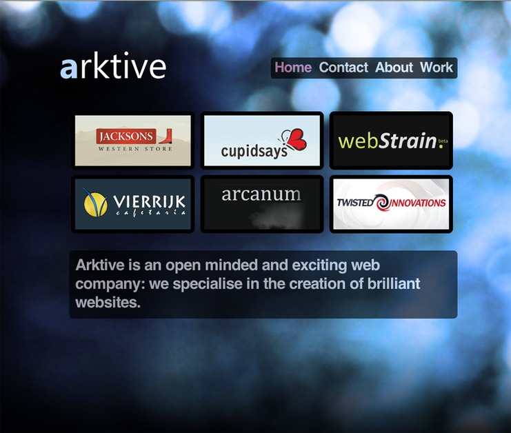 A great web design by Arktive, Glasgow, United Kingdom: