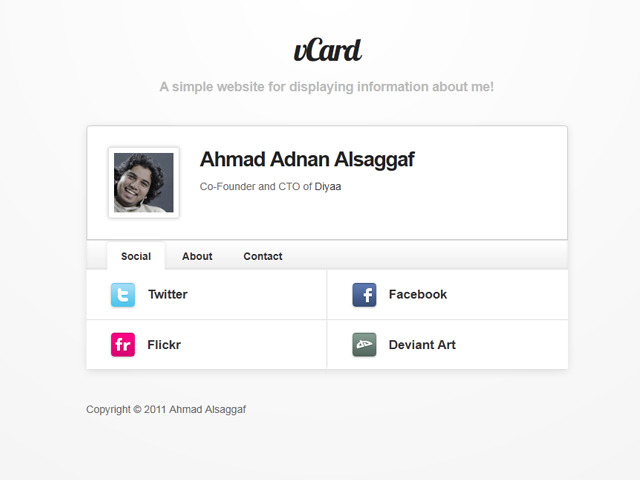 A great web design by Ahmad Alsaggaf, Jeddah, Saudi Arabia:
