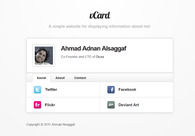 A great web design by Ahmad Alsaggaf, Jeddah, Saudi Arabia: