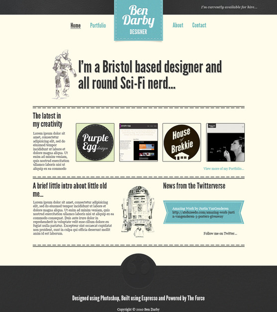 A great web design by Ben Darby, Bristol, United Kingdom: