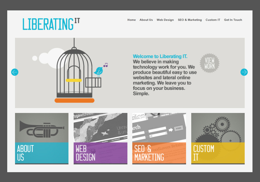A great web design by Liberating IT, Central London, United Kingdom: