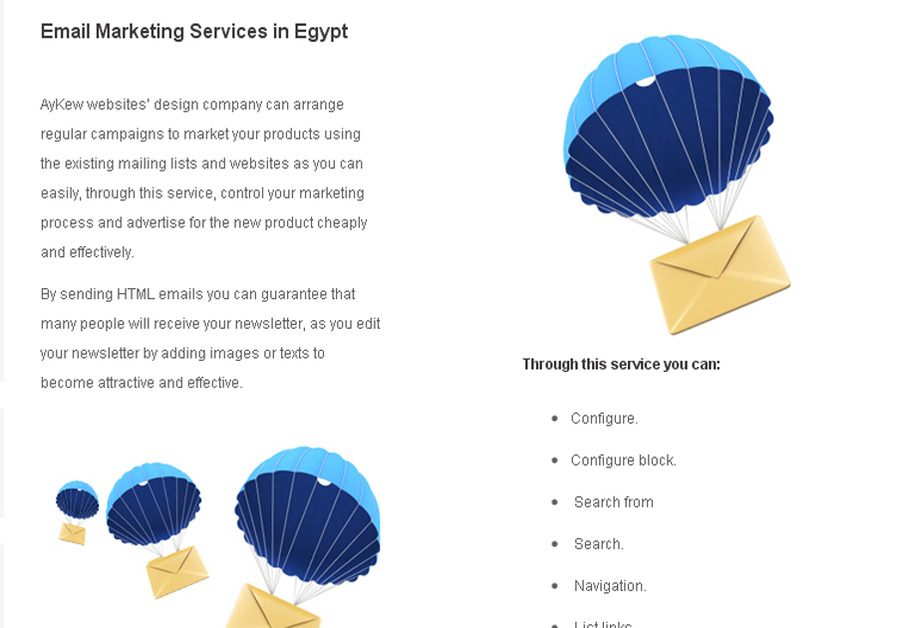 A great web design by AyKew.com , cairo, Egypt: