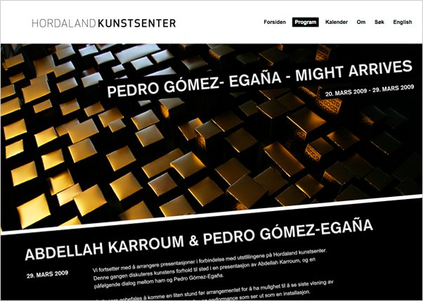A great web design by Kamikaze Media, Bergen, Norway:
