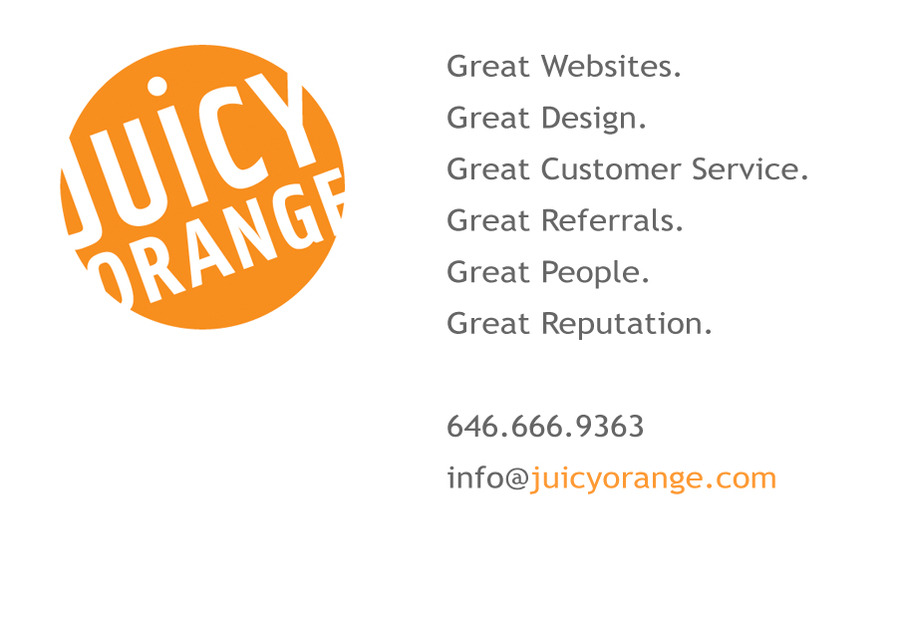 A great web design by Juicyorange, New York, NY: