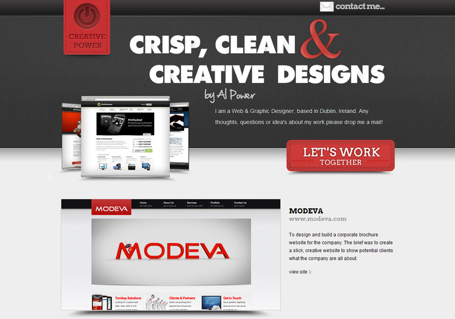 A great web design by Al Power, London, United Kingdom: