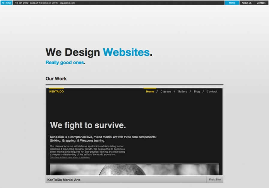 A great web design by reThinQ, Los Angeles, CA: