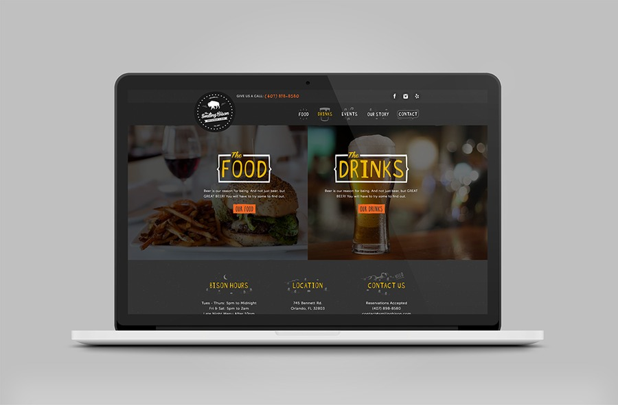 A great web design by Small Fortune, Orlando, FL: Responsive Website, Marketing Website , Restaurants & Bars, Wordpress