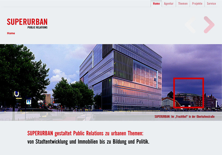 A great web design by IconScreen GmbH, Hamburg, Germany: