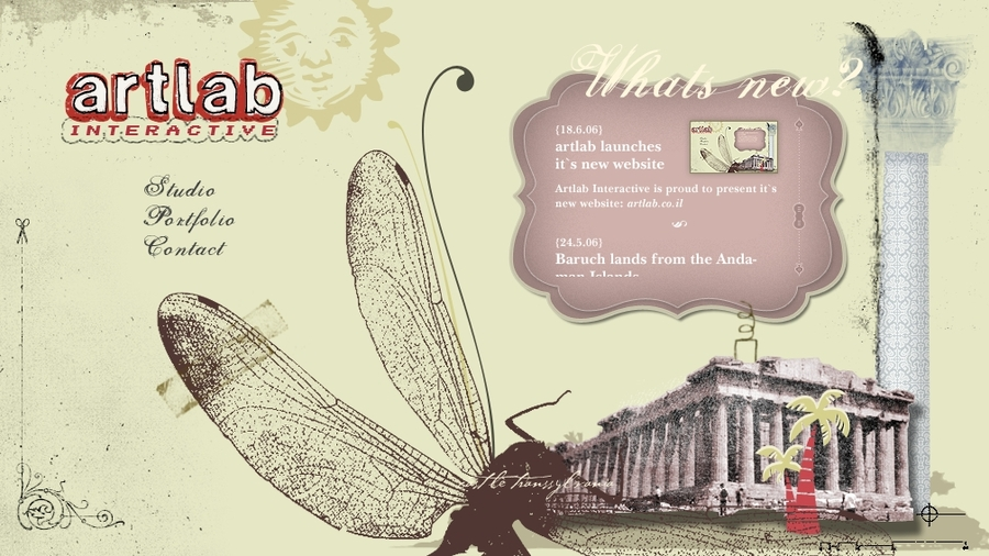 A great web design by artlab interactive, Tel Aviv, Israel: