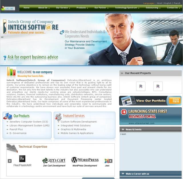 A great web design by Intech Software, Dehradun, India: