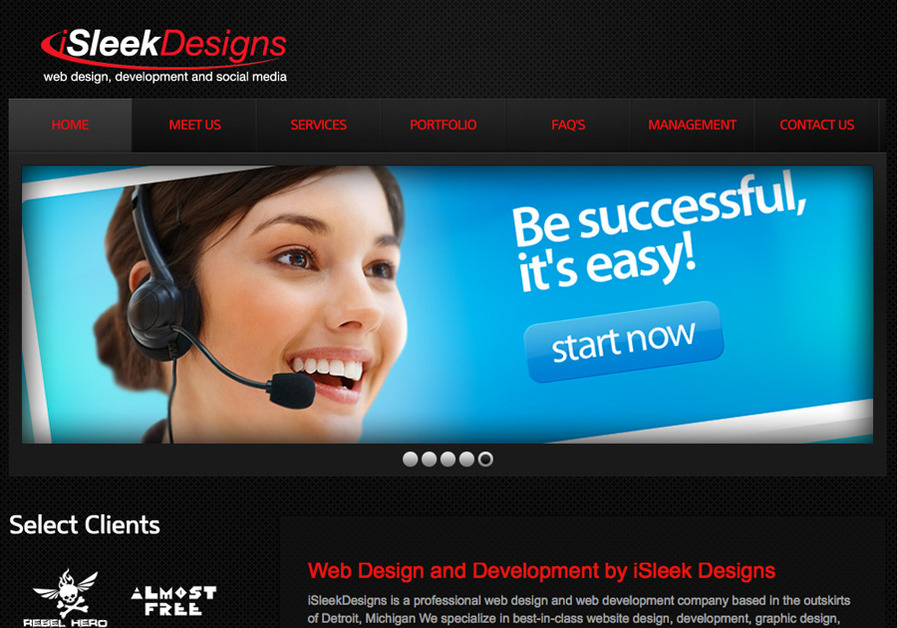 A great web design by iSleekDesigns.com, Detroit, MI: