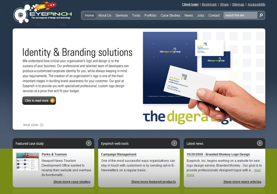 A great web design by Eyepinch, Inc., Virginia Beach, VA:
