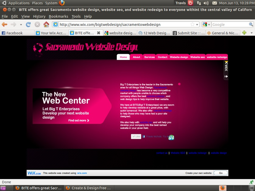 A great web design by B!TE Saramento Website Design, San Francisco, CA: