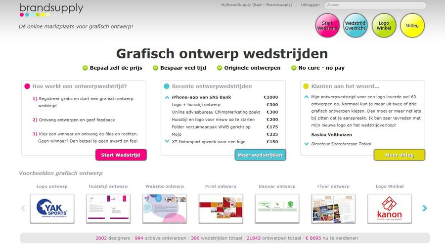 A great web design by Brandsupply, Amsterdam, Netherlands: