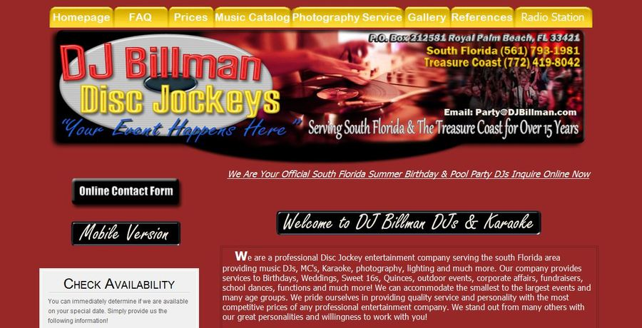 A great web design by Billman Web Designers, West Palm Beach, FL: