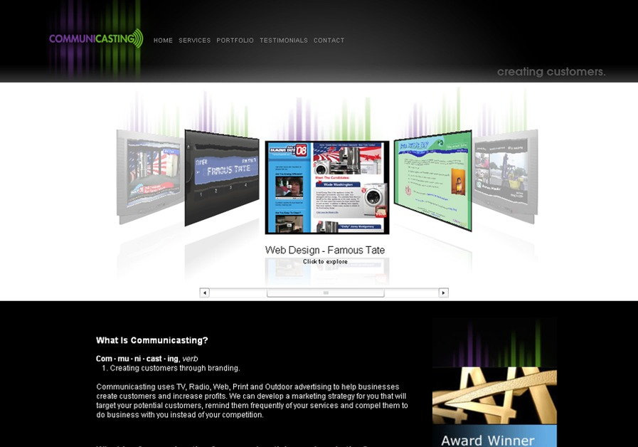A great web design by Communicasting, Inc., Saint Petersburg, FL: