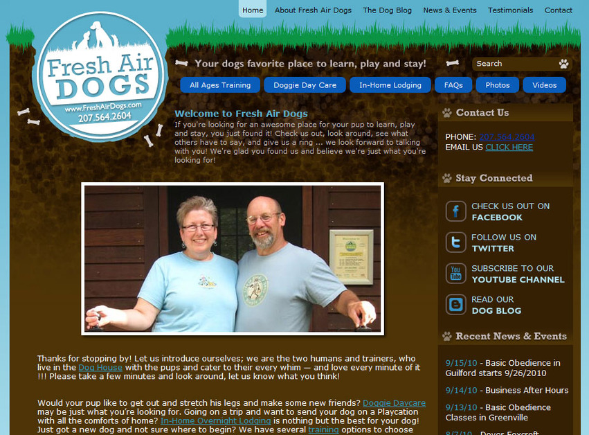 A great web design by Loud Canvas Media, Dover, NH: