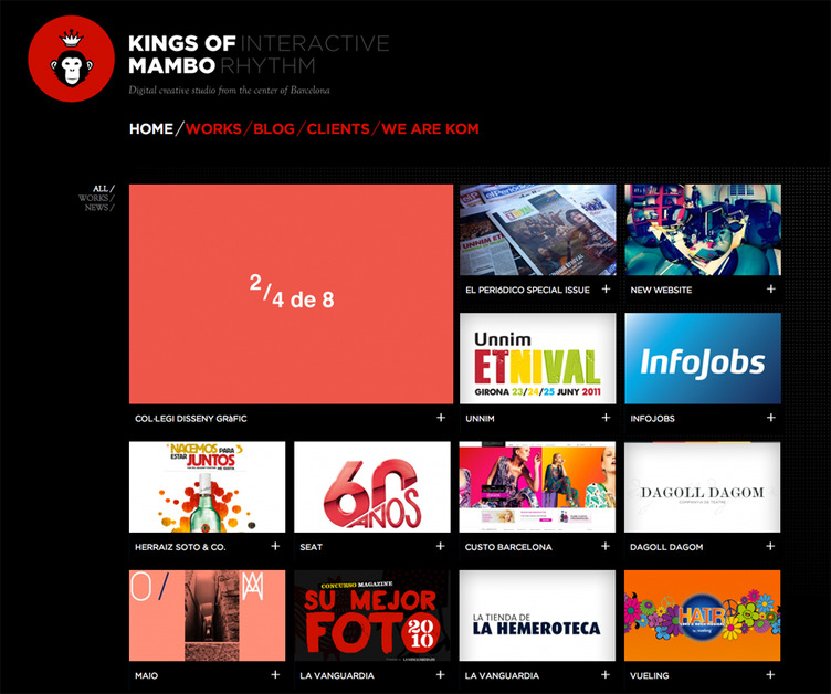 A great web design by Kings of Mambo, Barcelona, Spain: