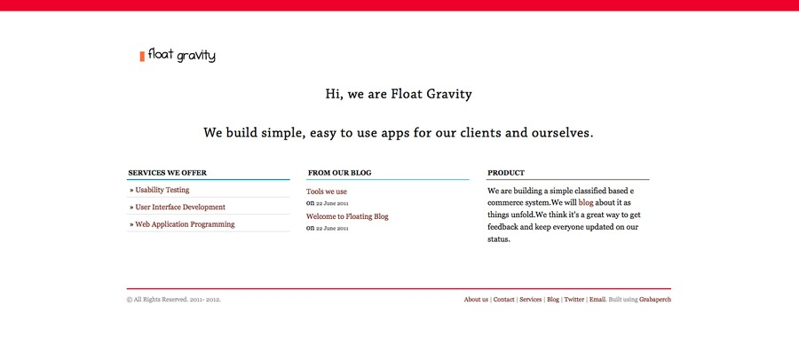 A great web design by Float Gravity Web Studio, Mumbai, India: