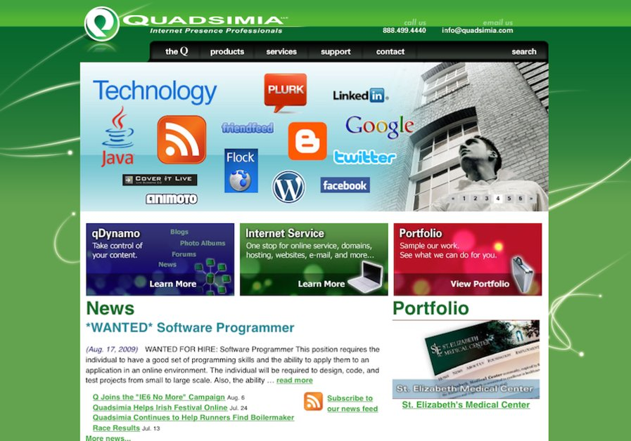 A great web design by Quadsimia, Utica, NY: