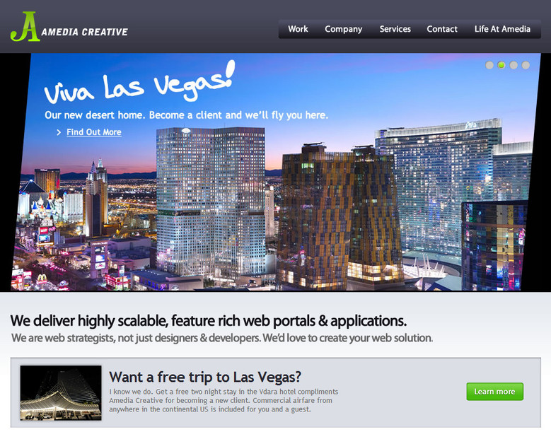 A great web design by Amedia Creative, Inc, Las Vegas, NV: