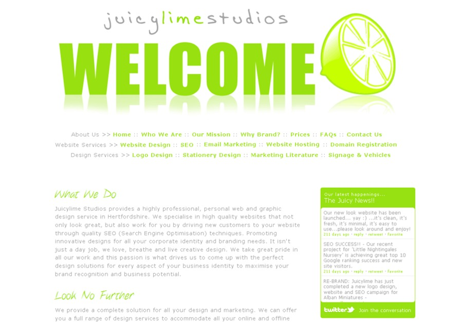 A great web design by Juicylime Studios, London, United Kingdom: