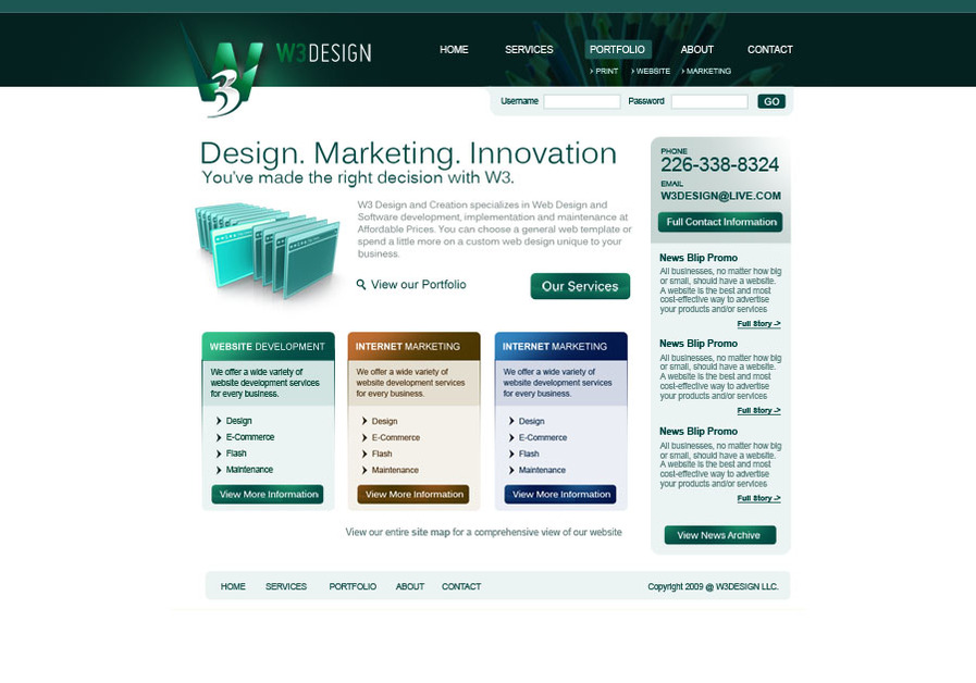 A great web design by W3 Design, Waterloo, Canada: