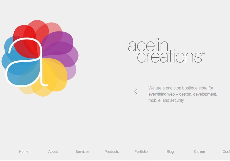 A great web design by Acelin Creations, Mumbai, India: