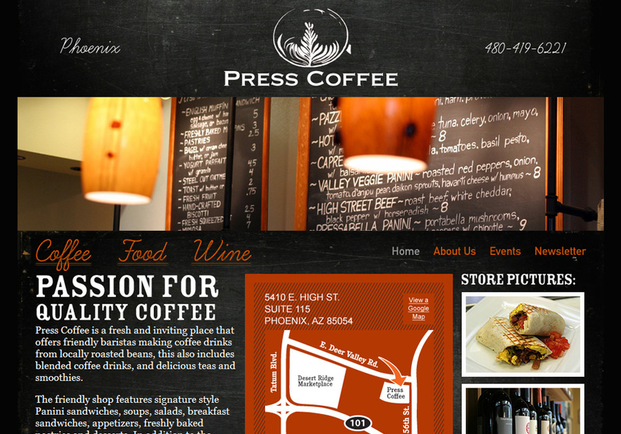 A great web design by Tornado Design, Phoenix, AZ: