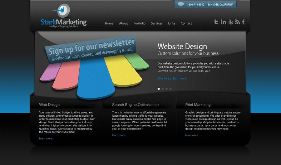 A great web design by stark marketing, San Jose, CA: