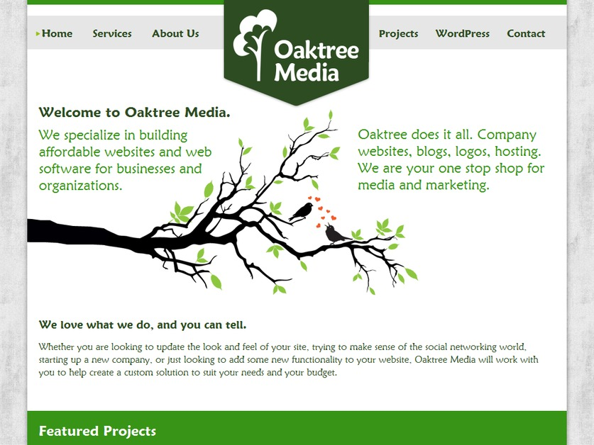 A great web design by Oaktree Media, Guelph, Canada: