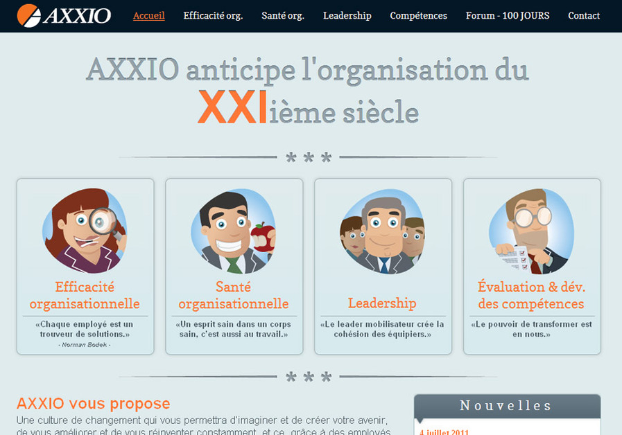 A great web design by Koleo, Quebec, Canada: