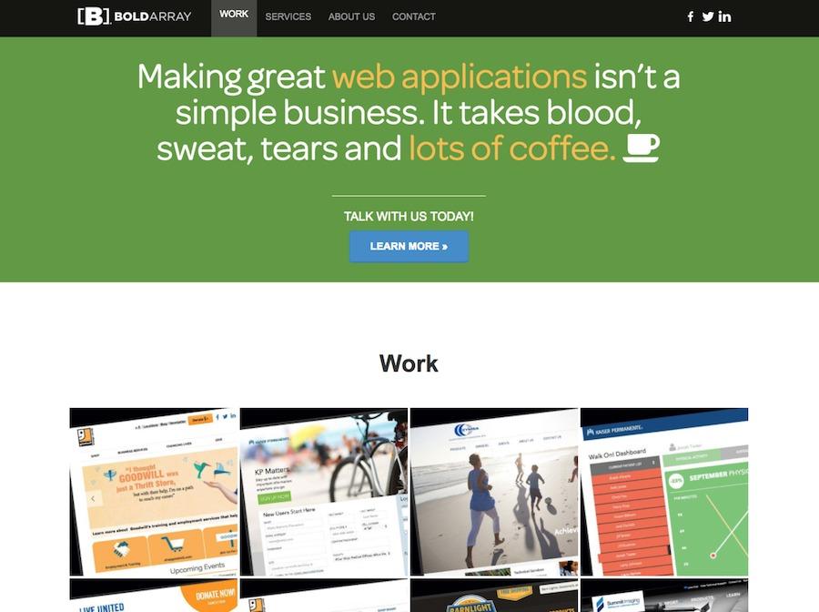 A great web design by Bold Array LLC, Los Angeles, CA: