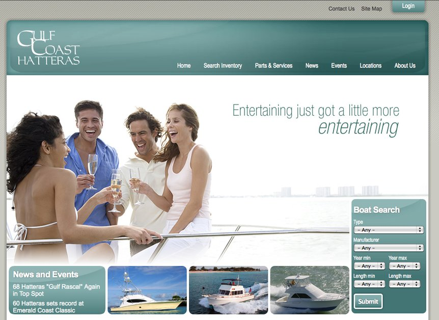 A great web design by Coco Design Agency, Pensacola, FL: