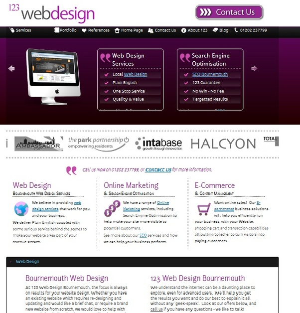 A great web design by 123 Web Design Bournemouth, Dorset, United Kingdom: