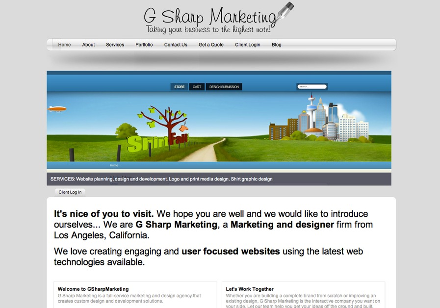 A great web design by G Sharp Marketing, Los Angeles, CA: