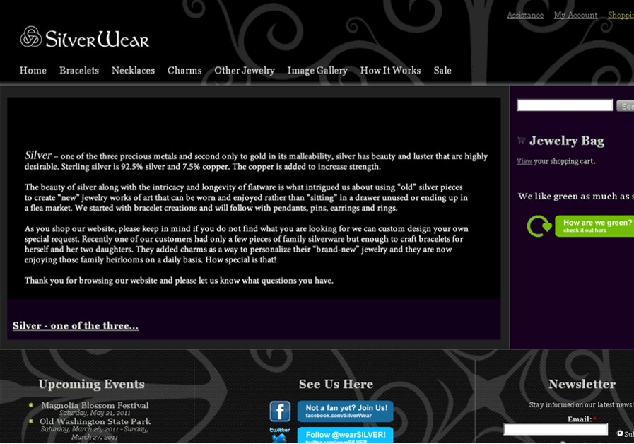 A great web design by Maya Design, Conway, AR: