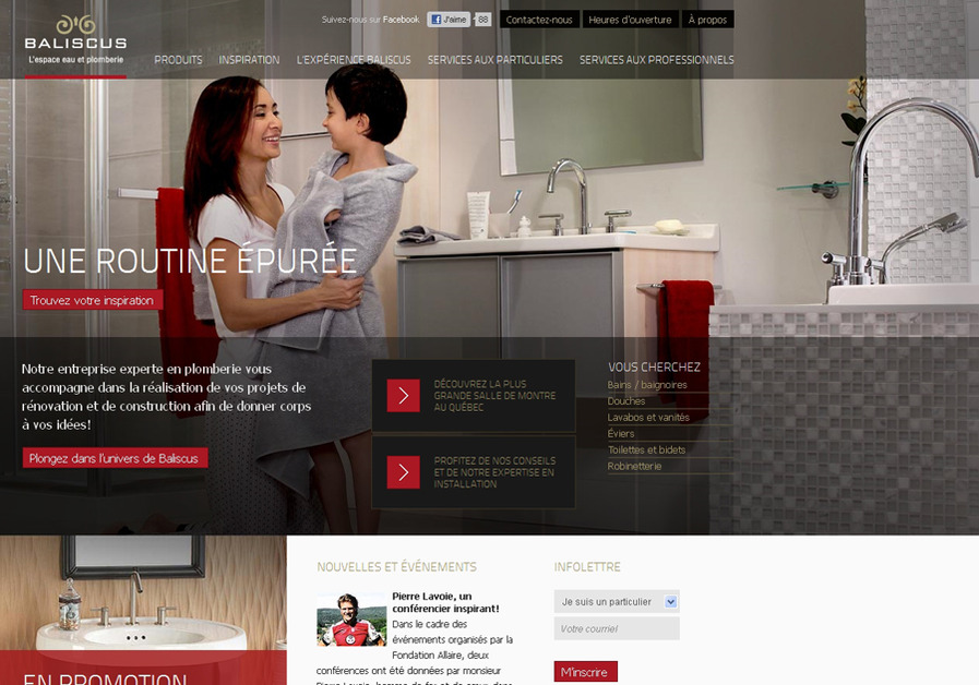 A great web design by Absolunet, Montreal, Canada: